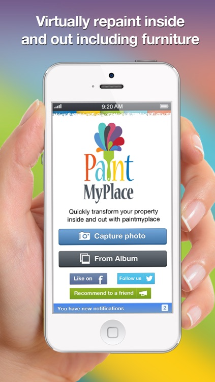 Paint My Place - Realistic Color Painter and Editor. Virtually Decorate and Makeover Your Home, Property or Estate