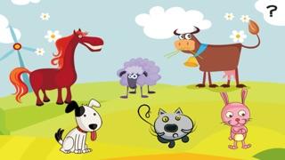 Aktiv-Spiel Für Kinder Über den Bauernhof - Tiere Füttern Lernen Wie Kuh, Hund, Schaf, Pferd, Katze, KaninchenScreenshot von 3