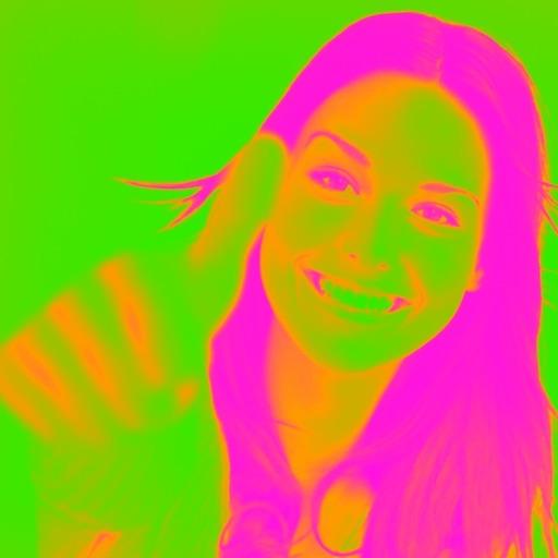 Glow Camera - View Crazy Cool Neon Fluorescent Rainbow Splash Colors iOS App