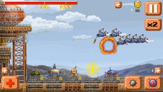 Ventivian Defender FREE - Pixel Steampunk Battles... of DOOM! screenshot one
