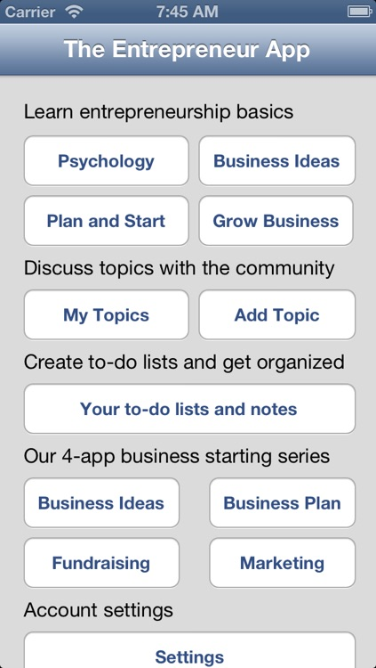 Entrepreneurs & Startup Community screenshot-0