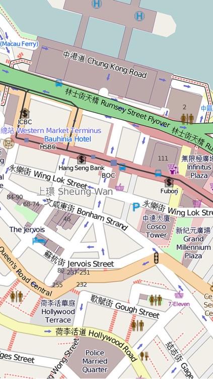 香港自由行地图 香港离线地图 香港地铁轻铁 香港地图 香港旅游指南 Hong Kong Metro Map offline 香港通 香港旅游攻略
