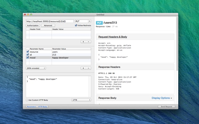 RESTed - Simple HTTP Requests on the Mac App Store