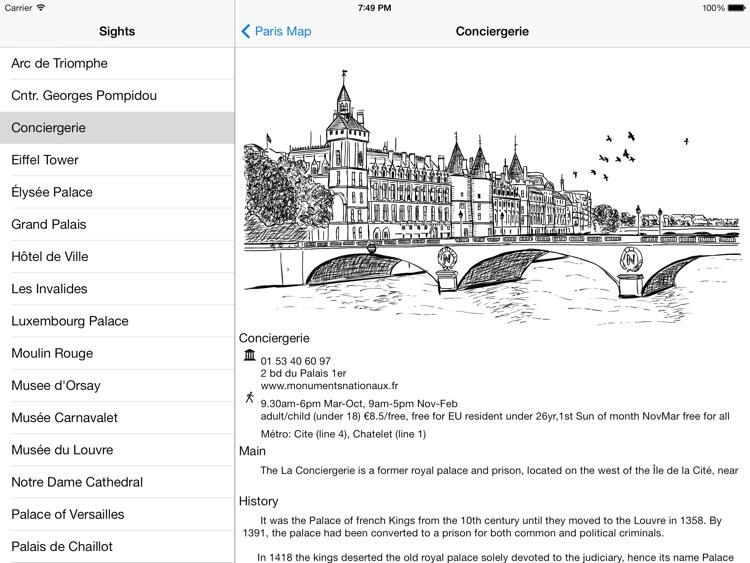 Paris Offline Map Guide for iPad screenshot-3