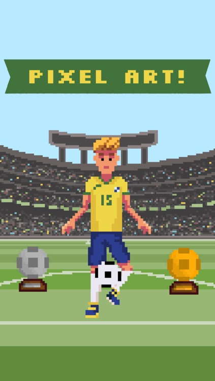 Super Soccer - World Champion 8 Bit Soccer Ball Juggling Free Sports Game
