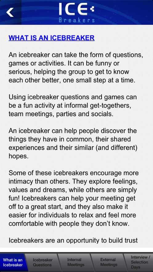 Ice Breakers App 截图