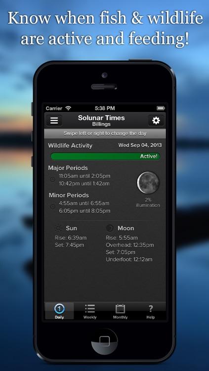 Solunar Hunting & Fishing Times and Calendar