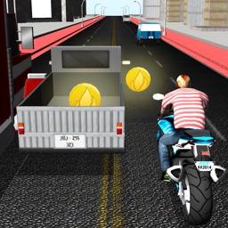 3D City Moto Racer Endless