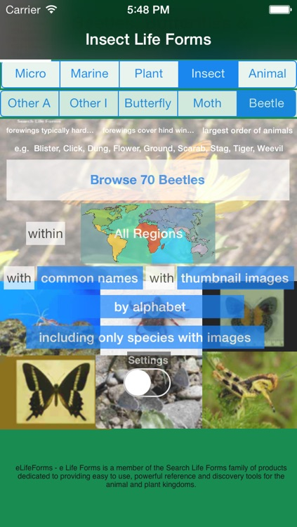 Life Forms of the World - A Comprehensive Life Form App