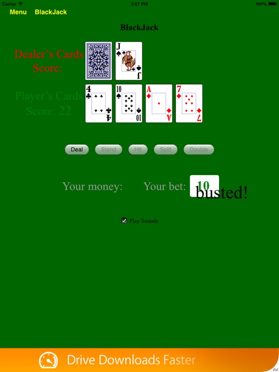 BlackJack Card Count Tutor Free - BA.net screenshot-2