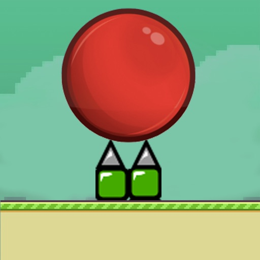 Red Ball Smash hit Bouncing Flappy Edition