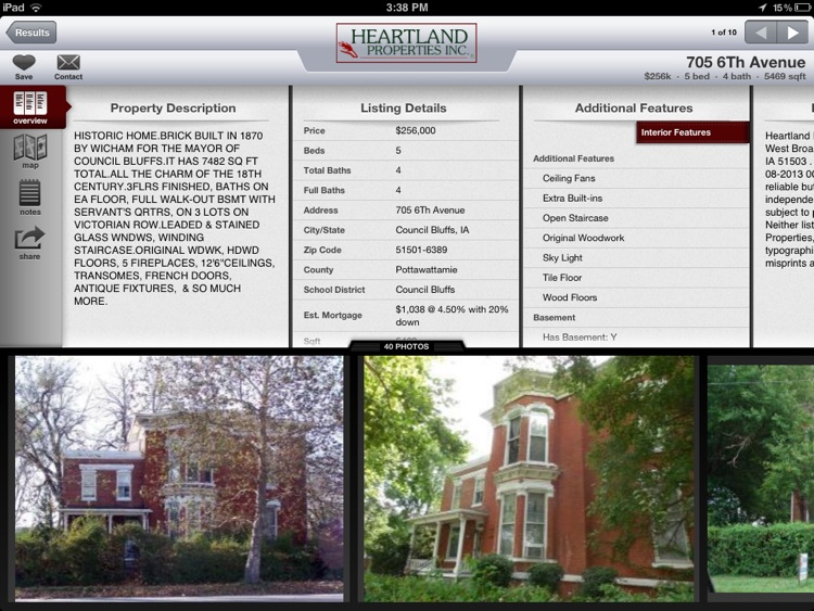 Heartland Properties Inc for iPad