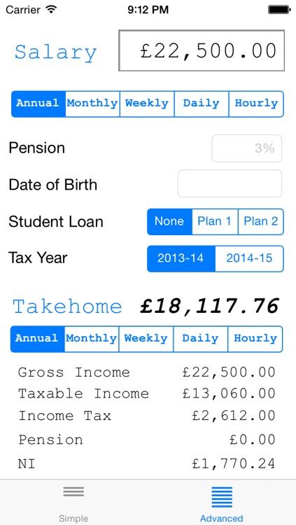 Salary Calculator (UK)