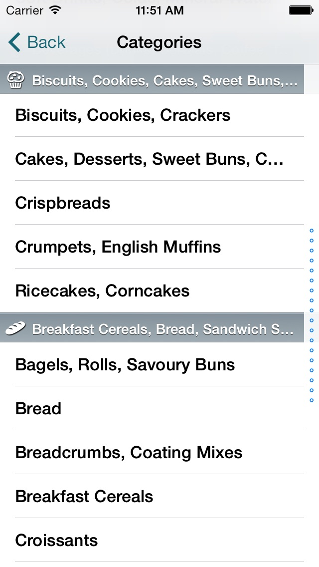 CalorieKing Food Search Screenshot