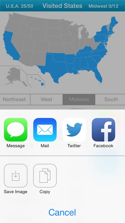 Visited States Map - USA Travel Log for Where You've Been screenshot-4