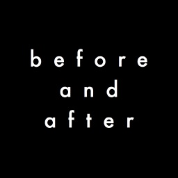 Before and After - Photo Haikus