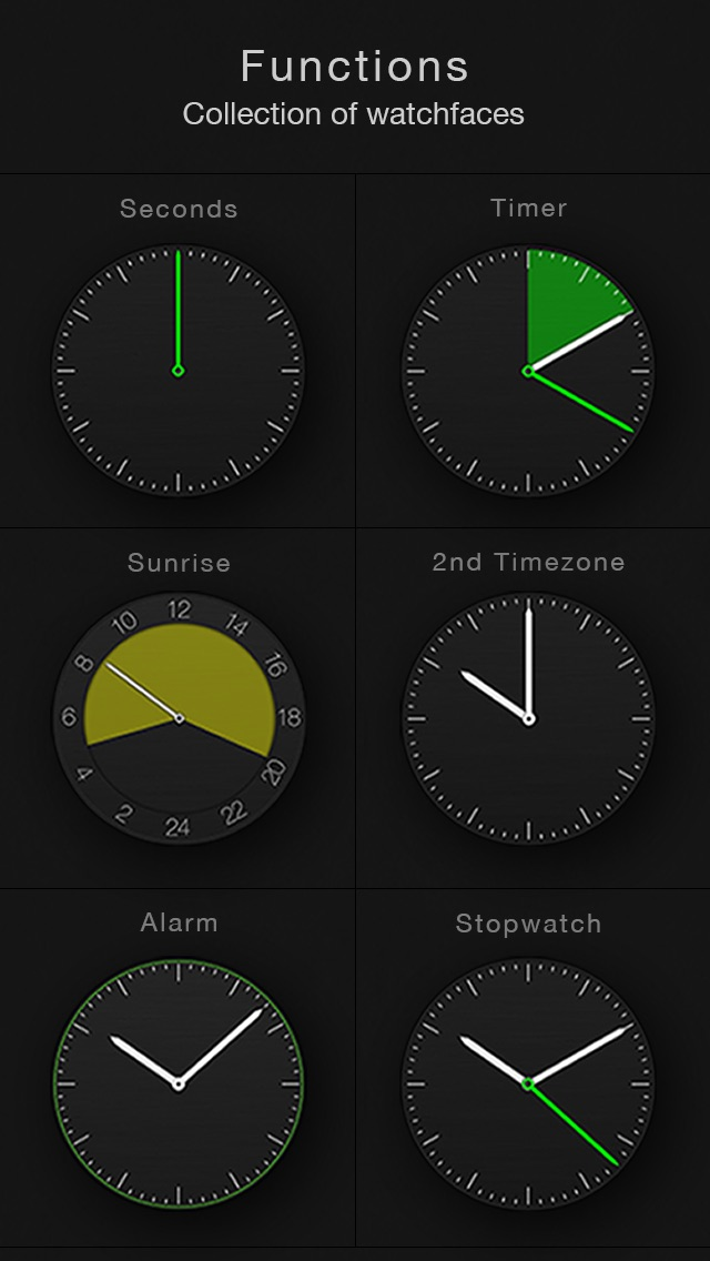 Circles - Smartwatch Face and Alarm Clock Screenshot