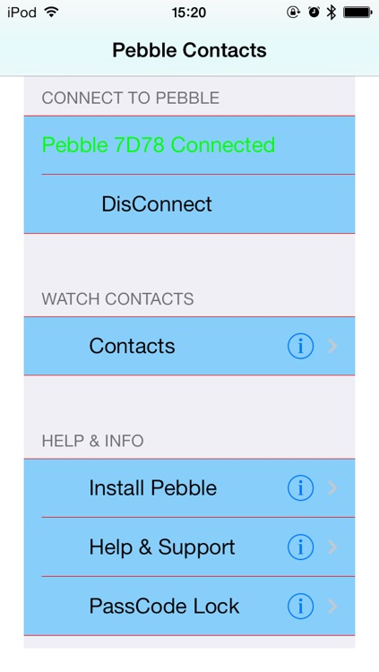 Contacts | Address Book for Pebble SmartWatch - Sync and Lock your contacts in safe screenshot-1