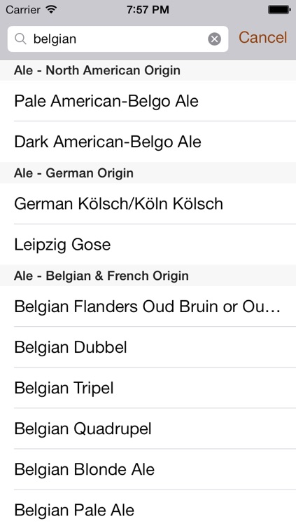 Brewers Association Styles