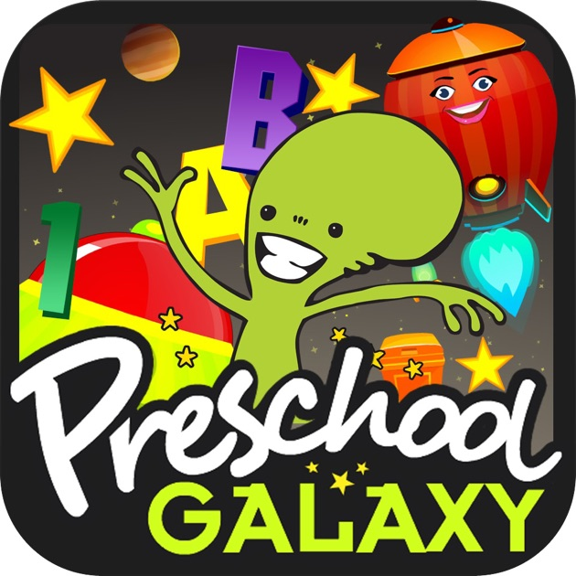 4 Letter Cartoon Characters : Preschool galaxy learn shapes colors numbers and