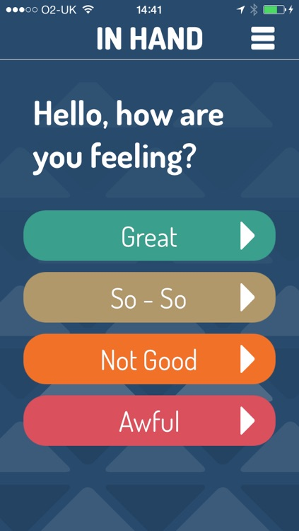 In Hand - A tool to focus where you're at and bring back the balance.