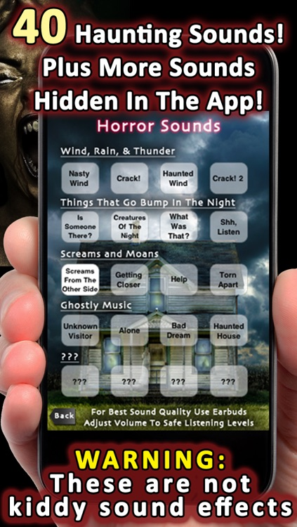 200+ Scary Stories, Sounds, And Pranks - Tales Of Horror, Ghosts, Vampires, Werewolves, Witches, and more! screenshot-3