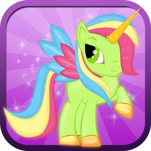 Немного магии Unicorn Dash: Моя красивая принцесса Пони против акулы Торнадо атаки игры - все бесплатно