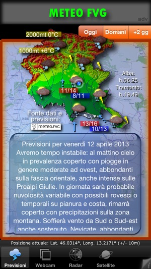 METEO FVG Light Screenshot