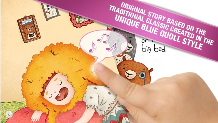 Goldilocks and the Three Bears by Blue Quoll - The traditional fairy tale re-invented as an interactive kids storybook