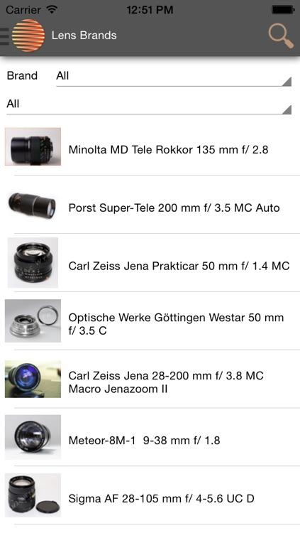 All Photo Lenses