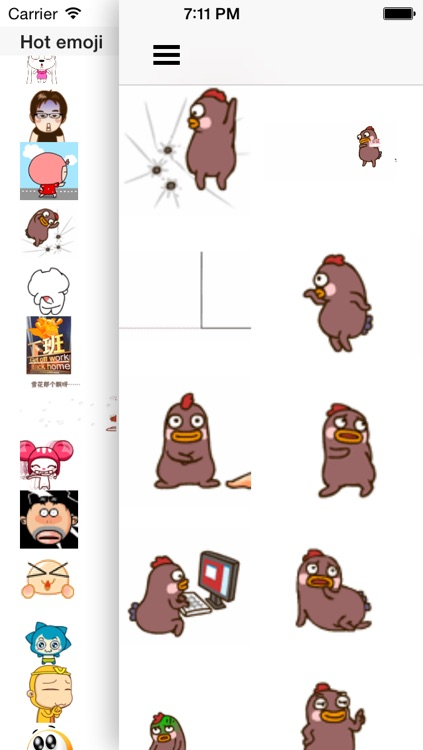 Hot emoji 3 for wechat - Animated Emojis stickers and icons screenshot-3