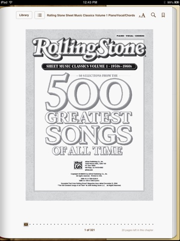 Rolling Stone Sheet Music Classics, Volume 1: 1950s-1960s by Alfred ...