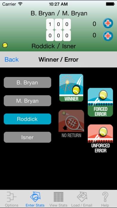 My Tennis Stats review screenshots