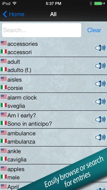 Italian in a Flash – Learn Quick with Easy Speak & Talk Flashcards! screenshot-3