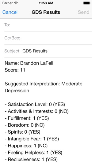 Geriatric Depression Scale On The App Store