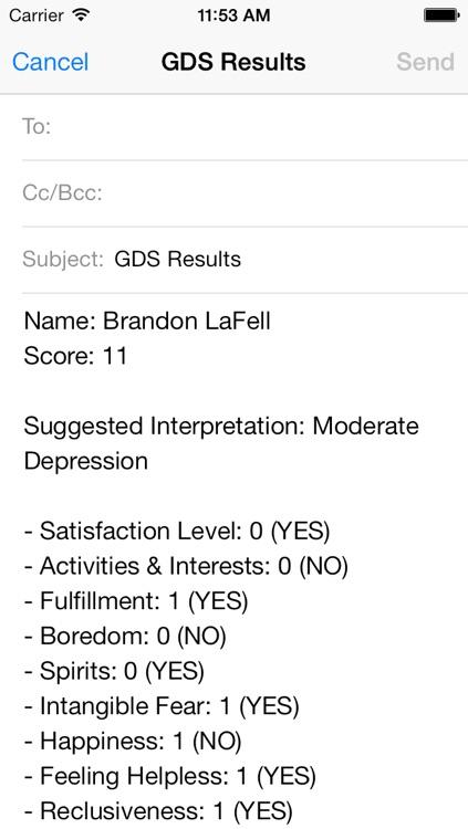 Geriatric Depression Scale screenshot-3