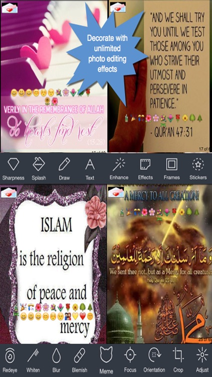 All Time Islamic Greeting Cards.Customising and Sending eCards with Islamic Teachings screenshot-3