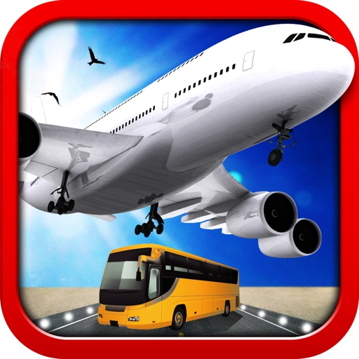 3D Airport Bus and Air-Plane Simulator - Real Driving, Racing & Parking School and Car Test Drive Game icon