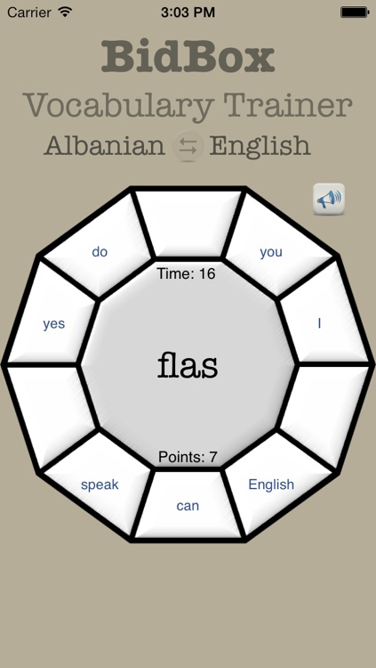 Vocabulary Trainer: English - Albanian