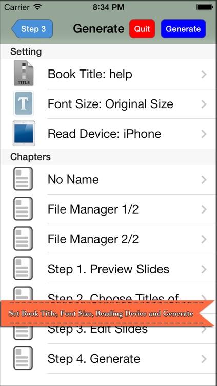 PPT2Book - Convert slides (ppt & pptx, PowerPoint document) to iBook epub book screenshot-4