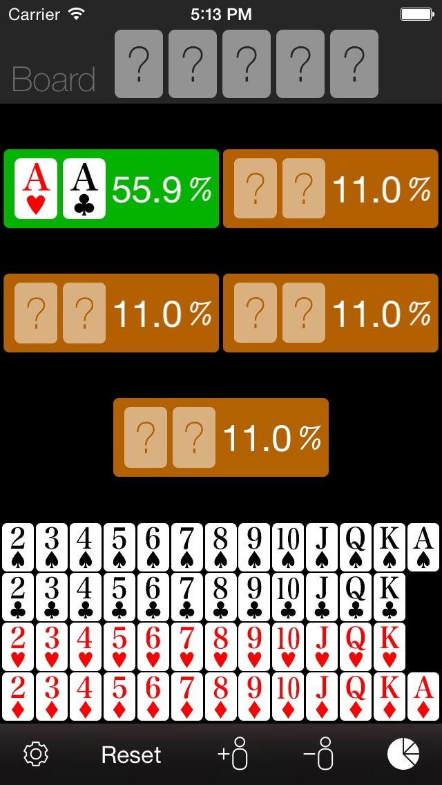 Poker Odds Calculator review screenshots