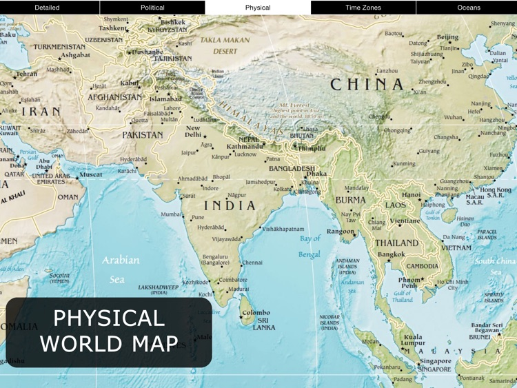 World Map for iPad