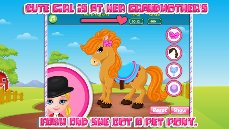 Cute baby and her pony screenshot-3