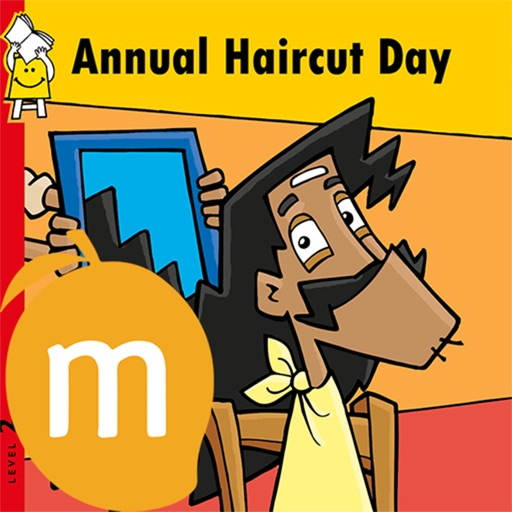 Annual Hair Cut Day in English - Interactive eBook in English for children with puzzles and learning games
