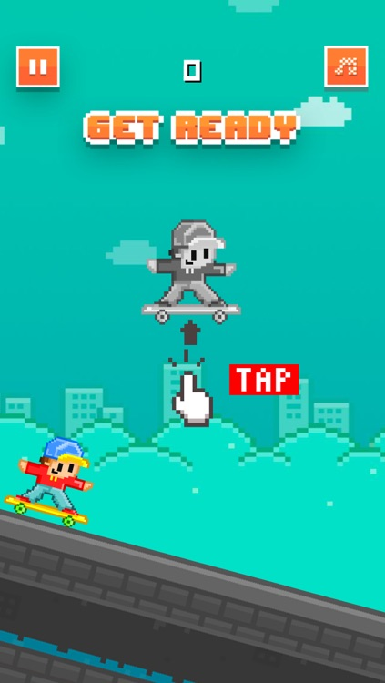 Skateboard Heroes - Play Pixel 8-bit Games for Free screenshot-1