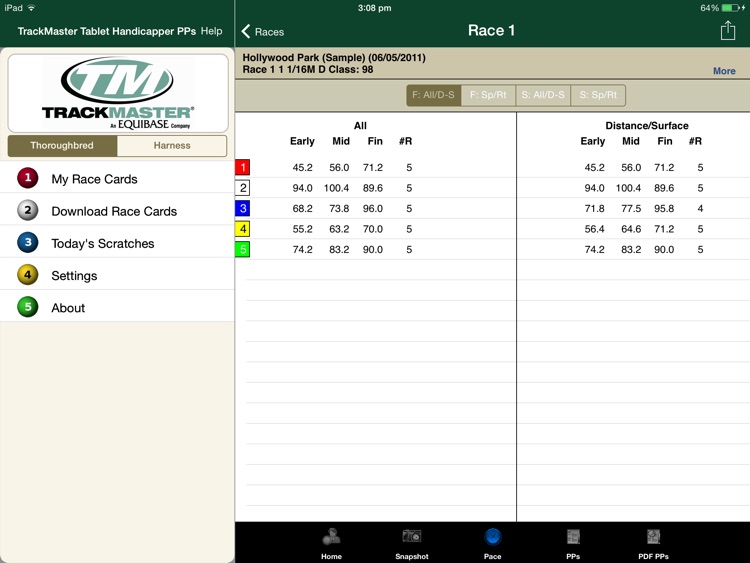 TrackMaster Tablet Handicapper PPs screenshot-3