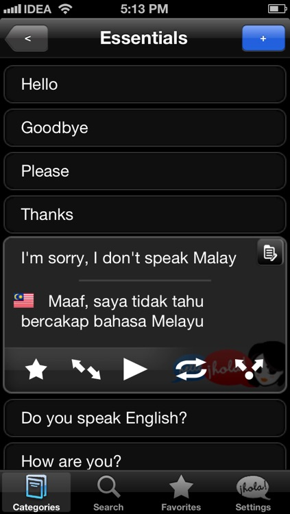 Lingopal Malay LITE - talking phrasebook screenshot-1