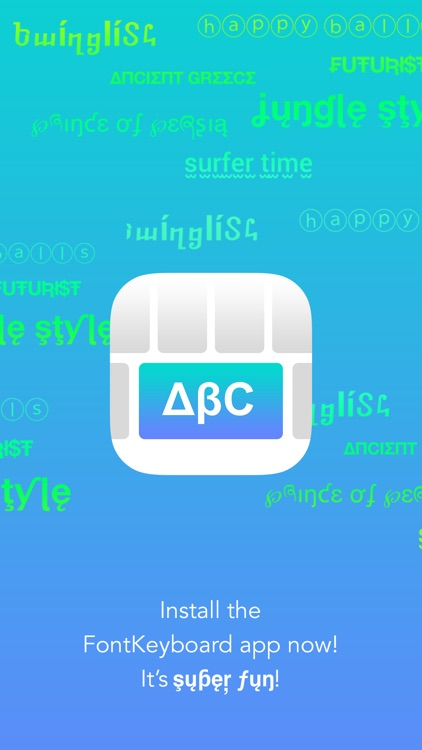 FontKeyboard for iOS 8 - use cool fonts and texts directly from your keyboard screenshot-3