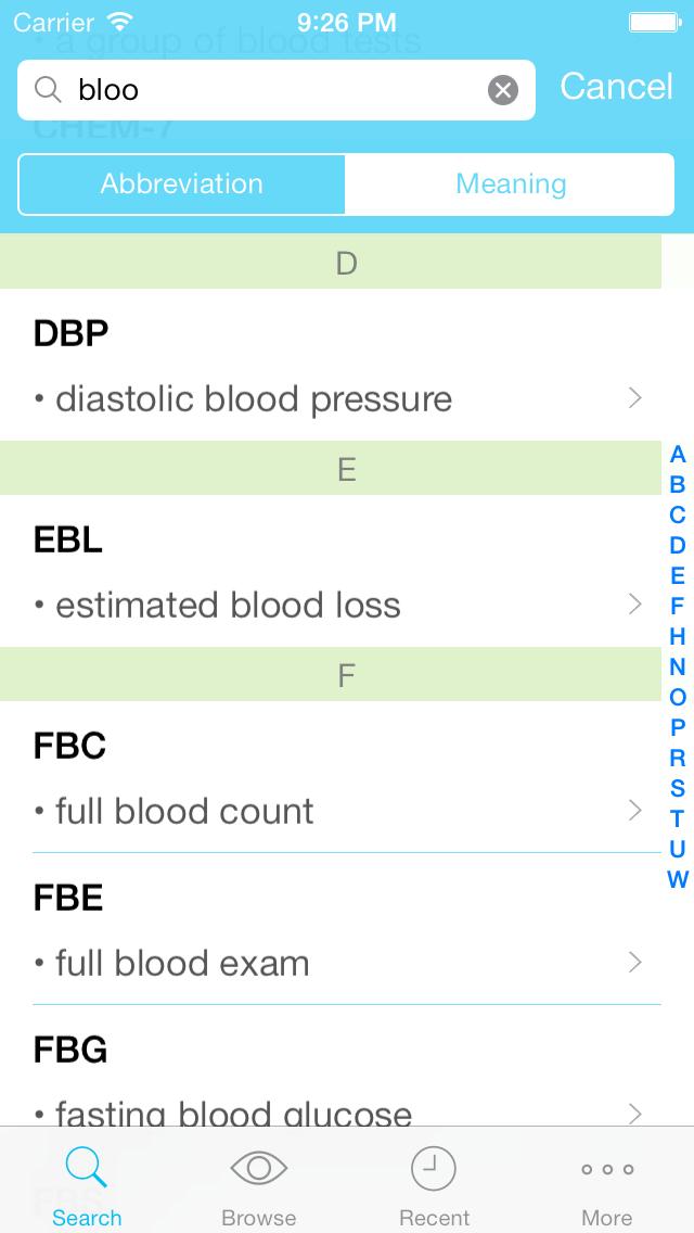 Medly - Medical Abbreviation, Terminology, and Prescription ReferenceScreenshot of 2