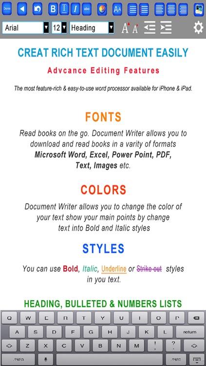 Document Maker - Create & Edit Rich Text Docs and Generate PDF screenshot-4